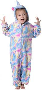 PENGMAI Enfants Adulte Unisexe Licorne Onesie Pyjama