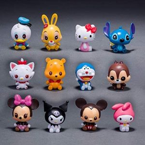 Yvonnezhang Set Kawaii Stitch & Minne Tsum Figure PVC 12pcs